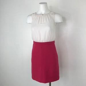 LOFT Ann Taylor | Pink & White Mini Dress Pockets